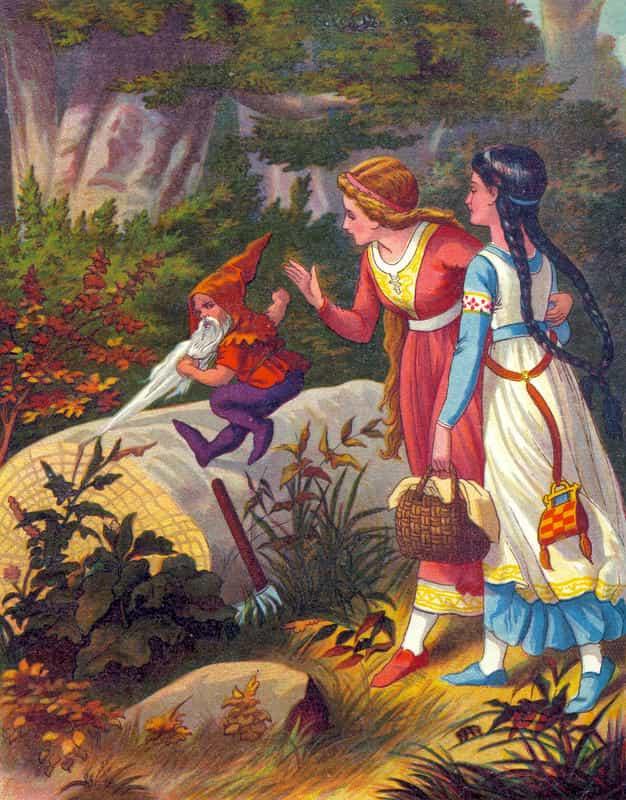 قصة حمرة الورد وأختها بياض الثلج