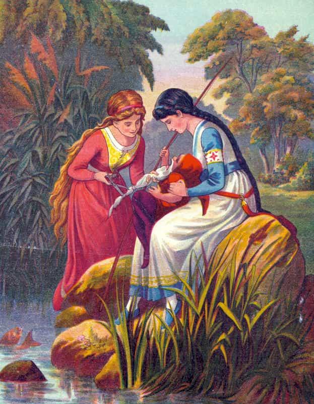بياض الثلج وشقيقتها حمرة الورد